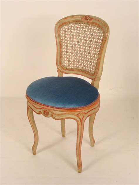 set of eight painted louis xv dining room chairs at 1stdibs