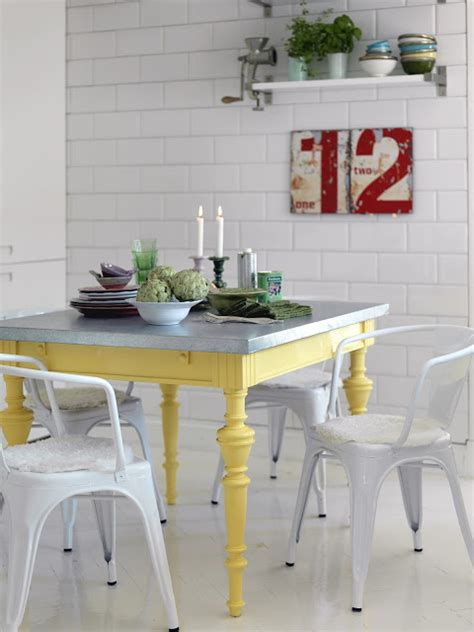 Yellow Kitchen Table Colorful Painted Dining Table Inspiration