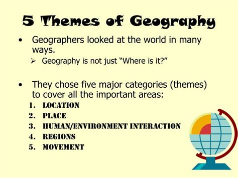 5 themes of geography ppt ppt 5 themes of geography powerpoint presentation id