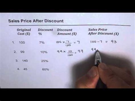 How To Find Sales How To Calculate Sales Price After Discount