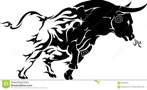 Bull Rage Bull Rage Stock Vector Image Of Rage View Isolated 60855253