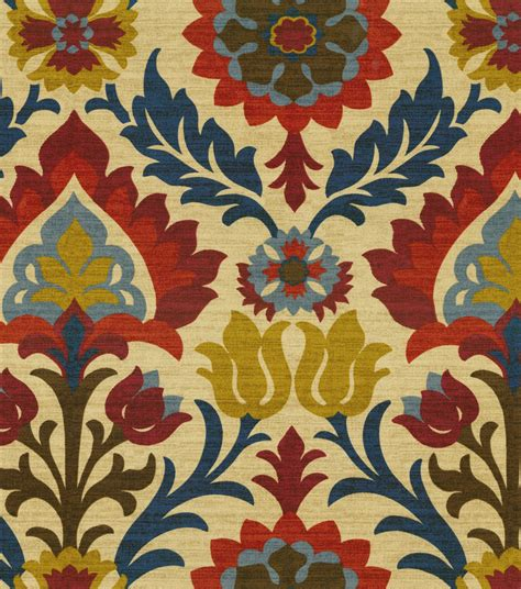 upholstery santa maria home decor print fabric waverly santa maria gem jo ann