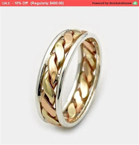 Wedding Bands Gold And Silver by Mens Wedding Bands S Day Sale 9ct Twist Gold Ring
