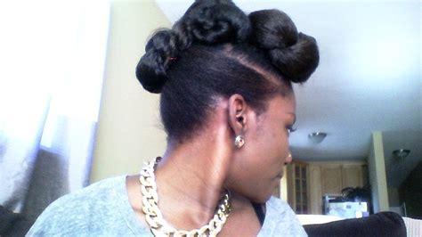 faux bun hairstyles faux bun natural updo with braiding hair my daughter s
