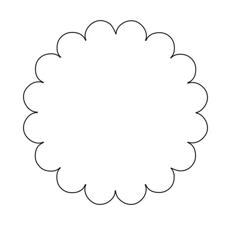 flower tags template free circular scalloped tag template search tutorial