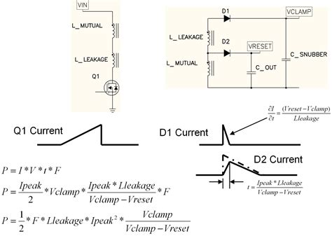 leakage current in inductor power tip 17 snubbing the flyback converter edn