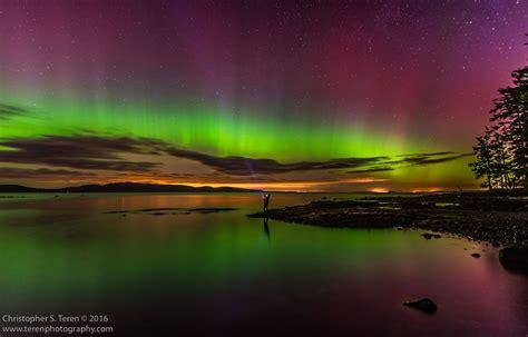 Northern Lights Washington State by Northern Lights San Juan Island Update