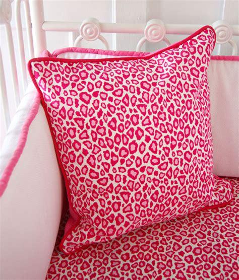 pink leopard crib bedding set girly pink leopard ruffle crib bedding set by caden