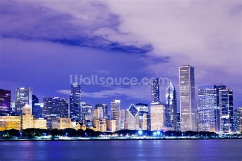 wall murals chicago chicago downtown wall mural chicago downtown wallpaper