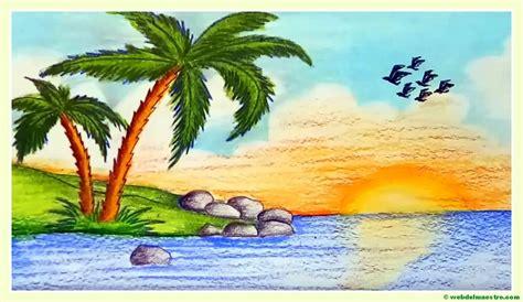 imagenes de paisajes naturales faciles de dibujar paisajes f 225 ciles de dibujar web del maestro