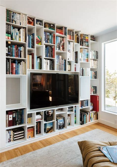 bookshelves around tv bookshelves around the tv bookshelf styling