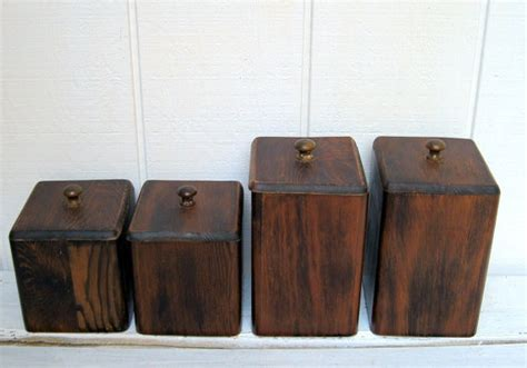 wooden kitchen canister set for the home