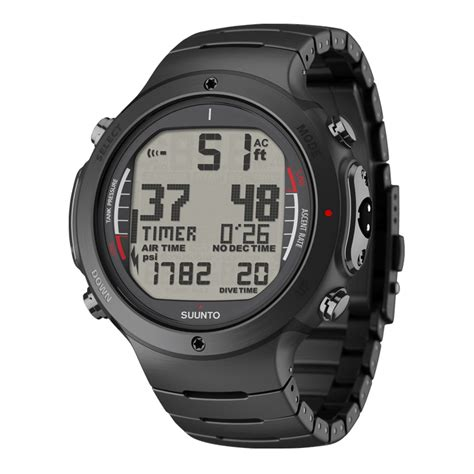 steel team six suunto d6i all black steel dive features in rugged steel