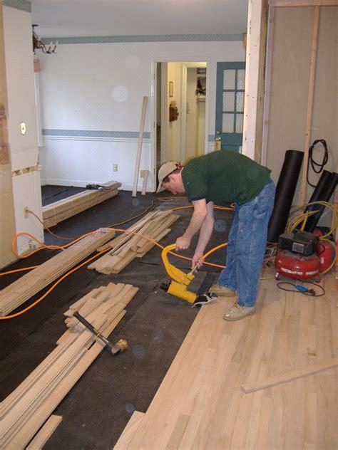 Hardwood Flooring Installed to Match Existing Floors