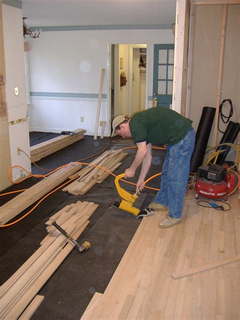 Hardwood Flooring Installed to Match Existing Floors
