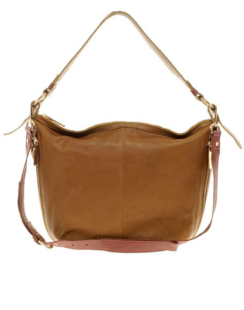 Slouch Bag by River Island Leather Slouch Bag In Brown Lyst
