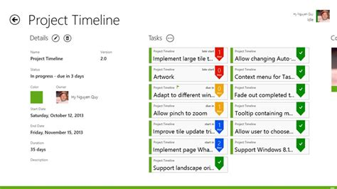 project timeline app for windows in the windows store