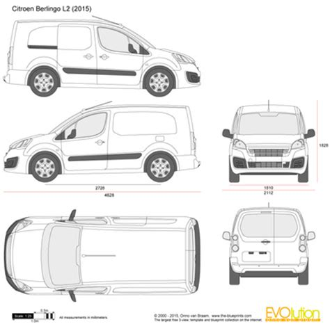 blueprint drawing free the blueprints vector drawing citroen berlingo l2