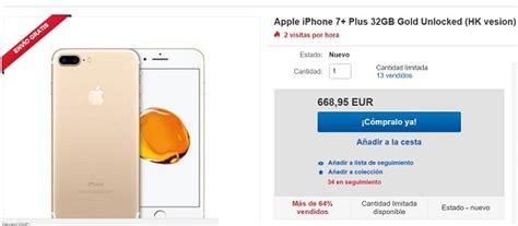 consigue un iphone 7 plus por 200 euros menos en ebay