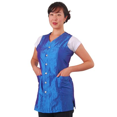 zippered hair cutting smock in can salon smocks and capes hairstylegalleries com