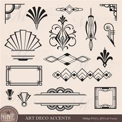 digital clipart deco design elements frames borders