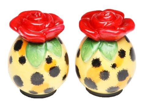 unique salt and pepper shakers whimsical red rose unique salt pepper shakers s p ebay