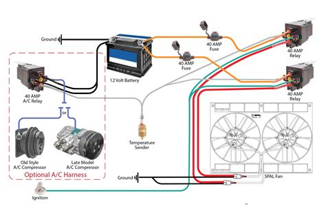 12 volt relay wiring diagram cooling fan wiring diagrams