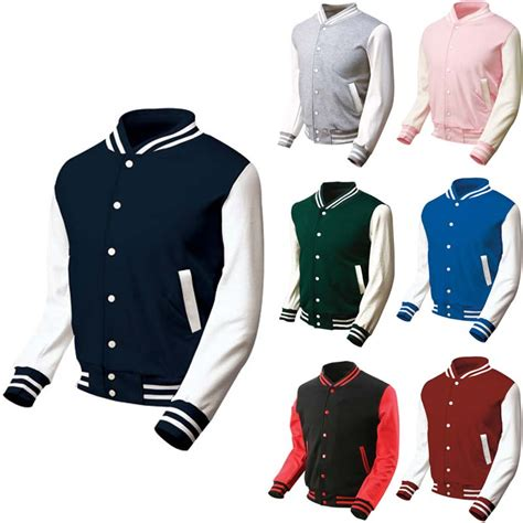 S College Letter Jackets Mens Varsity College Letterman Baseball Jacket Ikooikoo