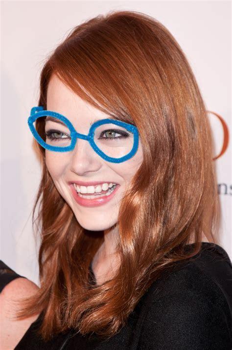 emma stone glasses emma stone wears funny misshapen glasses