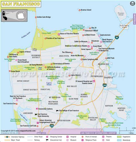 san francisco map in usa san francisco map detailed map of san francisco city ca