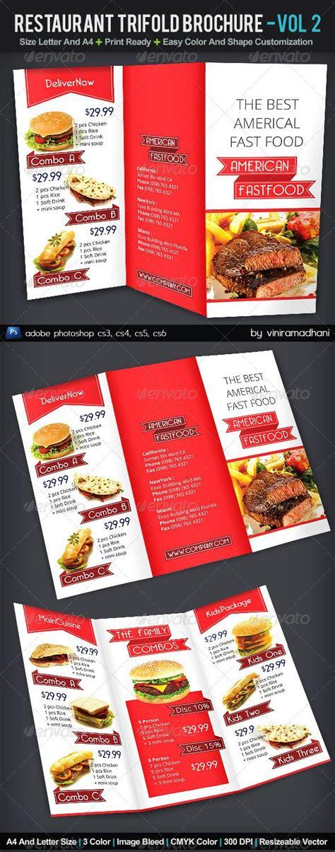 34 Best Images About Tri Fold Menu On Pinterest Menu Cards Behance And Veg Restaurant Tri Fold Menu Template Photoshop