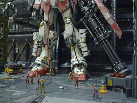 Base 2 Bandai 1 gunpla diorama the last stand 1 100 fighter gundam heavy arms weathered modeled by robert
