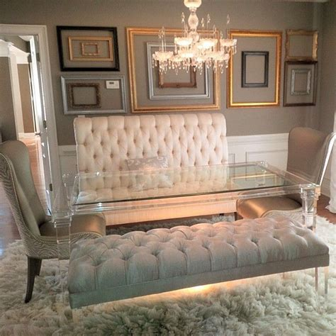 pin  vanity mirror    hollywood glamour furniture decor dinning room table decor