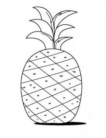 pineapple color free printable pineapple coloring pages for