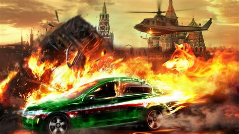 Car Explosion Wallpaper by Wallpaper Helicopter Car Kremlin 1920x1200 Hd