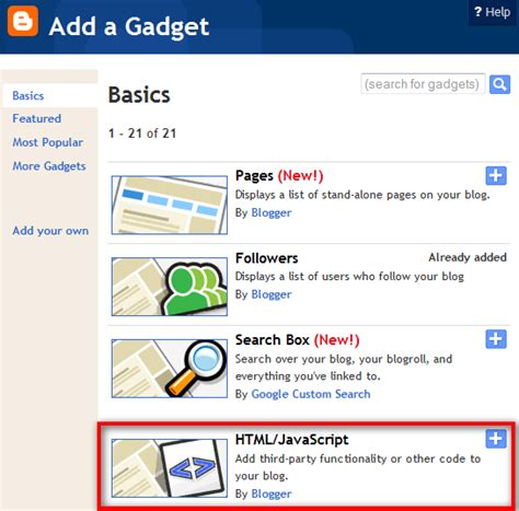 layout add a gadget html javascript how to add alexa rank widget for your blog or website