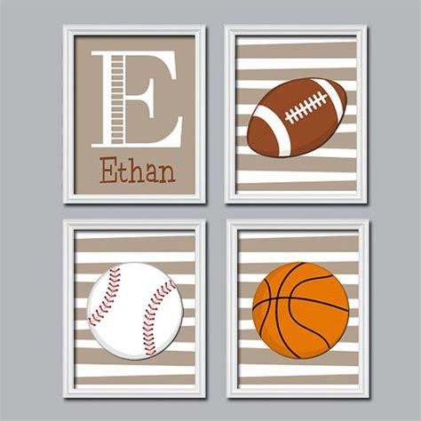 Sports Boy Wall Art Canvas Or Prints Boy Nursery Artwork Football Nursery Decor