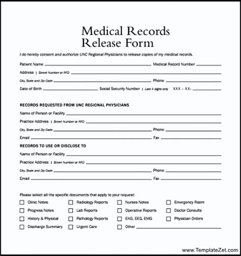 request for records form template records release form exle templatezet