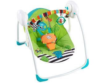 Sold Bright Starts catchoftheday au bright starts zoo tails portable baby swing