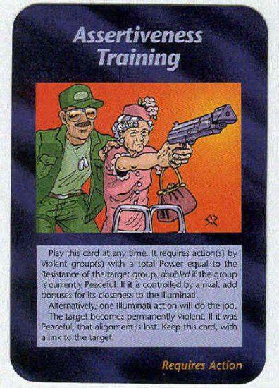 illuminati card 1995 all cards illuminati assertiveness new world order card