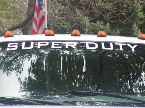 super duty windshield decal