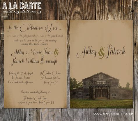 Charming Rustic Christmas Wedding Invitations #2: Barn-wedding-invitations-template-q7tnikrz.jpg