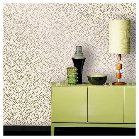 gold wallpaper target devine color speckled dot peel stick wallpaper karat