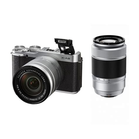 Kamera Fujifilm Mirrorless X A2 jual fujifilm x a2 kit 16 50mm 50 230mm f 3 5 5 6 ois silver kamera mirrorless