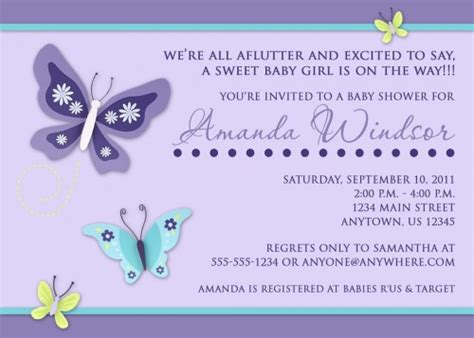 Butterfly Baby Shower Invitations Printable Free by Baby Shower Invitations Pixelperfectboutique Artfire Shop