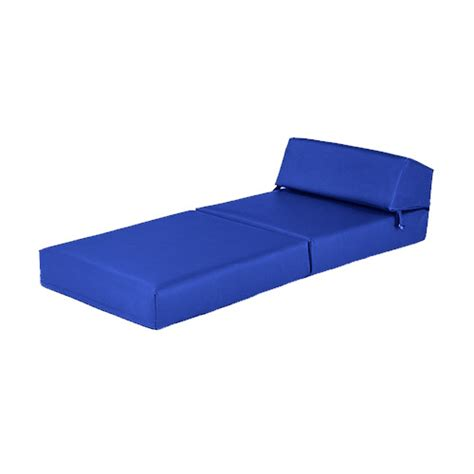 blue faux leather single chair z bed guest fold up futon