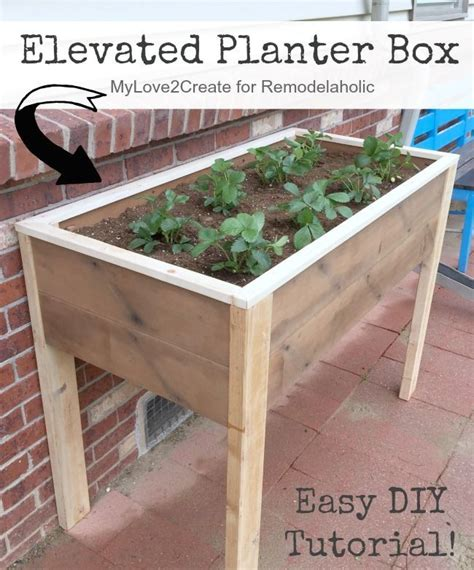 This Diy Elevated Planter Box Is Raised Up Off The Ground Elevated Planter Box