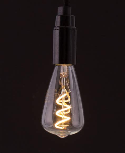 led leuchten e14 e14 led pear light bulb spiral filament warm glow