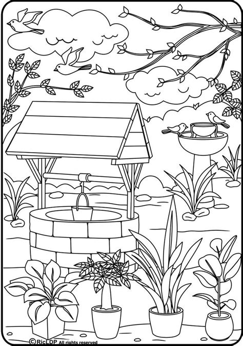 penny wishing well shopkin coloring page free printable wishing well coloring sheet coloring page