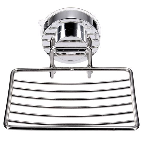 stainless steel bathroom tray stainless steel shower cup soap dish holder tray bathroom kitchen strong suction ebay